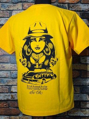 kustomstyle カスタムスタイル Tシャツ (KST2005GO) TWO FACE カラー:ゴールド
