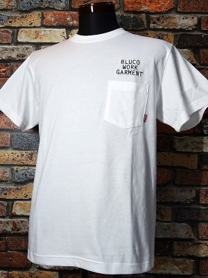 BLUCO ブルコ  ポケットTee (OL-809-020) mini logo カラー:ホワイト
