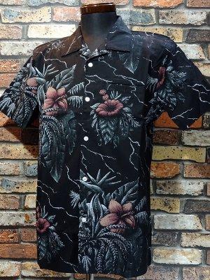 LoserMachine ルーザーマシーン 総柄 半袖シャツ (cloverdale short sleve shirts) カラー:ブラック