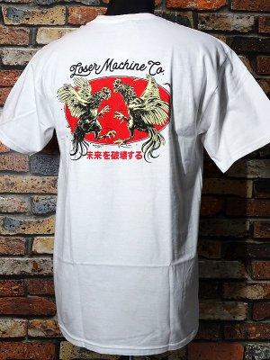 LoserMachine ルーザーマシーン Tシャツ (CHICKEN) カラー:ホワイト