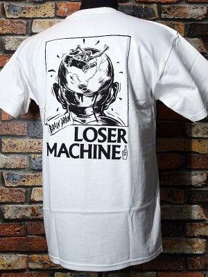 LoserMachine ルーザーマシーン Tシャツ (BRAIN DRAIN) カラー:ホワイト