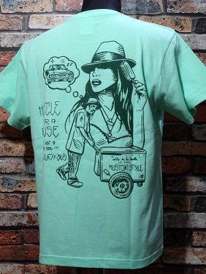 kustomstyle カスタムスタイル Tシャツ (KST2007MI) hustle for a cause カラー:ミント