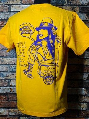 kustomstyle カスタムスタイル Tシャツ (KST2007GO) hustle for a cause カラー:ゴールド