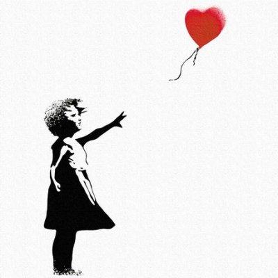Banksy バンクシー 日本正規ライセンスの壁掛けキャンバス アート (風船 少女)