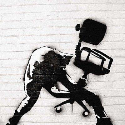 Banksy バンクシー 日本正規ライセンスの壁掛けキャンバス アート (モノクロ)