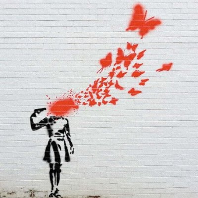 Banksy バンクシー 日本正規ライセンスの壁掛けキャンバス アート (拳銃 少女)
