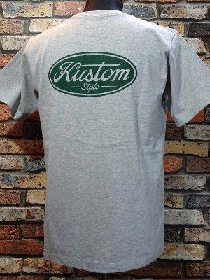 kustomstyle カスタムスタイル Tシャツ (KST2008GY) motor company カラー:グレー