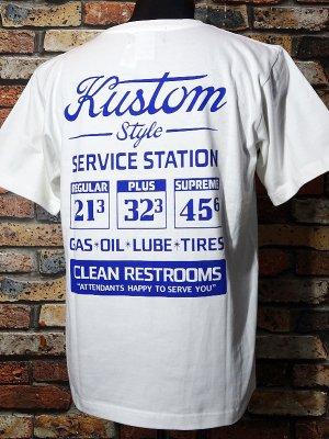 kustomstyle カスタムスタイル Tシャツ (KST2009WH) gas station カラー:ホワイト