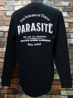 parasite パラサイト サーマルロングスリーブTシャツ (THE PARASITE) カラー:ブラック