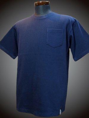 RealMinority リアルマイノリティー 10.2oz tough body ポケット付き無地Tシャツ (standard) カラー:ネイビー