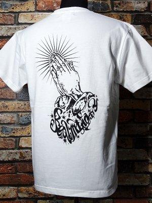 RealMinority リアルマイノリティー Tシャツ 7.4oz  (praying hands02) カラー:ホワイト