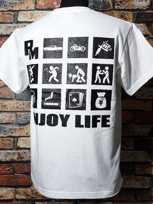RealMinority リアルマイノリティー  Tシャツ 7.4oz (ENJOY LIFE�) カラー:ホワイト