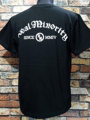 RealMinority リアルマイノリティー  Tシャツ 7.4oz (COLLEGE) カラー:ブラック