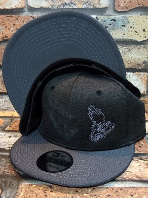 RealMinority リアルマイノリティー スナップバックキャップ (PrayingHands) NewEra ShadowHeather Striped cap カラー:ブラックヘザー×グレー