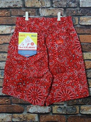 Cookman クックマン ルーズフィット イージー ショートパンツ (Paisley)bandana カラー:レッド