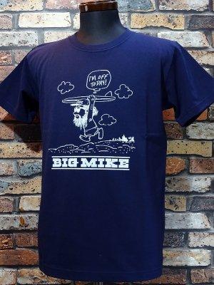BIG MIKE ビックマイク Tシャツ (OJISAN BEACH) カラー:ネイビー