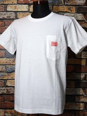 BIG MIKE ビックマイク サングラス ポケット付き Tシャツ (SUNGLASSES POCKET SHORT TEE) カラー:ホワイト