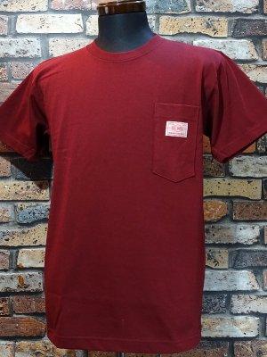 BIG MIKE ビックマイク サングラス ポケット付き Tシャツ (SUNGLASSES POCKET SHORT TEE) カラー:バーガンディー