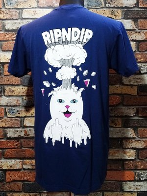 RIP N DIP リップンディップ Tシャツ (Mind Blown Tee) カラー:ネイビー