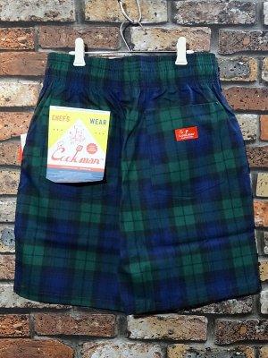 Cookman クックマン ルーズフィット イージー ショートパンツ (Black Watch Check) カラー:ネイビー×グリーン