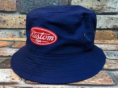 kustomstyle カスタムスタイル バケットハット(KSBH2008NY) motor company bucket hat カラー:ネイビー
