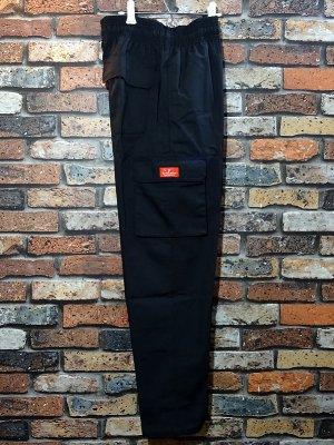 Cookman クックマン Chef Cargo Pants シェフ カーゴパンツ ルーズフィット イージーパンツ (Ripstop) コックパンツ カラー:ブラック