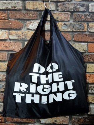 RealMinority リアルマイノリティー エコバッグ (Do the right thing) カラー:ブラック×ホワイト