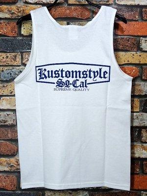 "kustomstyle カスタムスタイル タンクトップ (KSTP1712WH) supreme quality"" cotton tank top カラー:ホワイト"