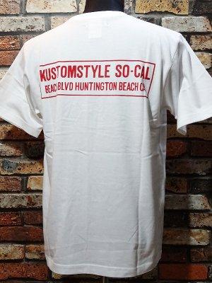 kustomstyle カスタムスタイル Tシャツ (KST1914WH) huntington beach ca カラー:ホワイト
