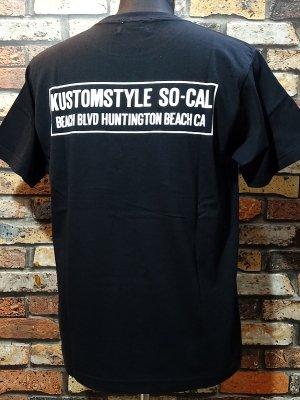 kustomstyle カスタムスタイル Tシャツ (KST1914BK) huntington beach ca カラー:ブラック