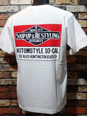 kustomstyle カスタムスタイル Tシャツ (KST1916WH) soup up&restyling カラー:ホワイト
