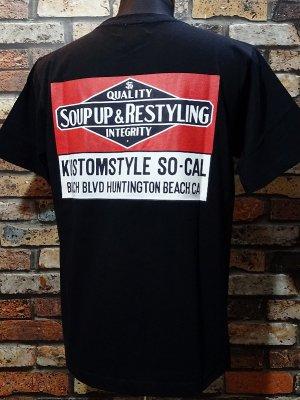 kustomstyle カスタムスタイル Tシャツ (KST1916BK) soup up&restyling カラー:ブラック