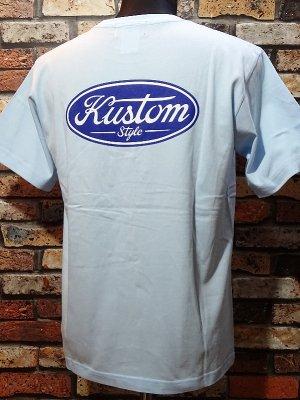 kustomstyle カスタムスタイル Tシャツ (KST2008LBL) motor company カラー:ライトブルー
