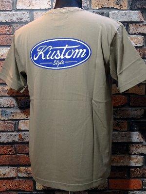 kustomstyle カスタムスタイル Tシャツ (KST2008SAND) motor company カラー:サンドカーキ