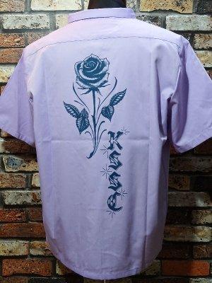 kustomstyle カスタムスタイル 半袖シャツ (KSSS2001LA) rose short sleve shirts  カラー:ラベンダー