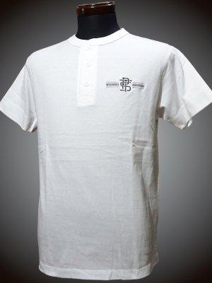 parasite パラサイト ヘンリーネックTシャツ (PST) カラー:ホワイト