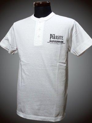 parasite パラサイト ヘンリーネックTシャツ (TheParasite) カラー:ホワイト