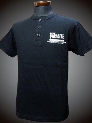parasite パラサイト ヘンリーネックTシャツ (TheParasite) カラー:ブラック