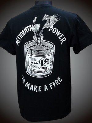 parasite パラサイト 7.1ozポケット付きTシャツ (To Make a Fire) カラー:ブラック