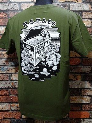 parasite パラサイト 5.6ozポケット付きTシャツ (6packeggs) カラー:グリーン