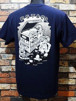 parasite パラサイト 5.6ozポケット付きTシャツ (6packeggs) カラー:ネイビー
