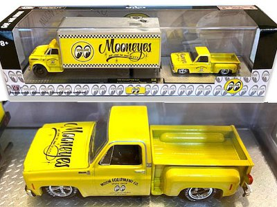 6000セット限定ミニカー M2-254 Machines Mooneyes 1968Chevrolet C60Truck with1979ChevroletSilveradoStepside