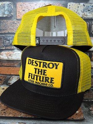 LoserMachine ルーザーマシーン メッシュキャップ (DESTROY) snapback mesh cap カラー:ブラウン×イエロー