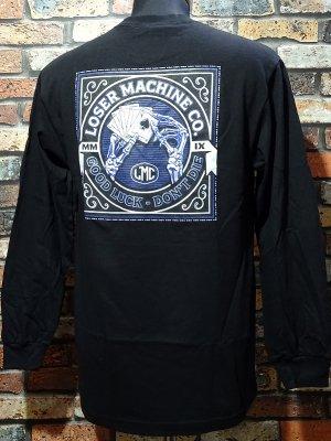LoserMachine ルーザーマシーン ロングスリーブTシャツ (SLOW HAND) Longsleeve Tee カラー:ブラック