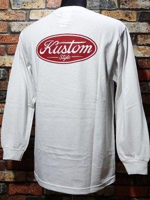 kustomstyle カスタムスタイル ロングスリーブTシャツ(KSTL2008WH) motor company long sleve tee カラー:ホワイト