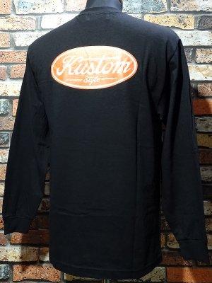 kustomstyle カスタムスタイル ロングスリーブTシャツ(KSTL2008BK) motor company long sleve tee カラー:ブラック