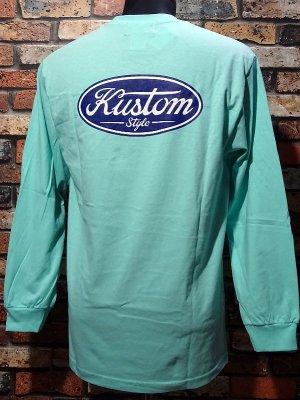 kustomstyle カスタムスタイル ロングスリーブTシャツ(KSTL2008CEL) motor company long sleve tee カラー:セラドン