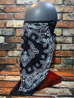 Bandana Face mask 冷感フェイスマスク ネックカバー カラー:ブラック