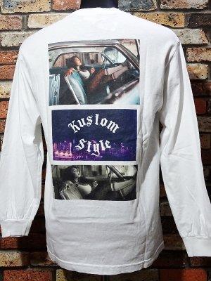 kustomstyle カスタムスタイル ロングスリーブTシャツ(KSTL2015WH) 3LA PHOTO long sleve tee カラー:ホワイト