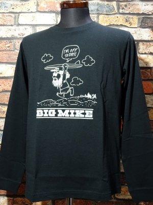 BIG MIKE ビックマイク ロングスリーブTシャツ (OJISAN BEACH) カラー:ブラック